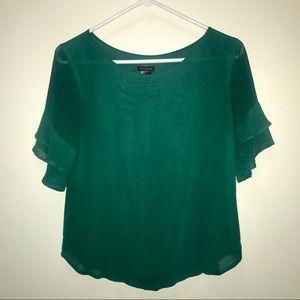 Ann Taylor | ruffle sleeve blouse